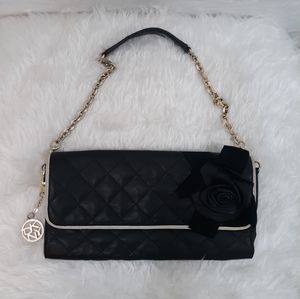 Donna karan DKNY quilted leather bag purse *P1e